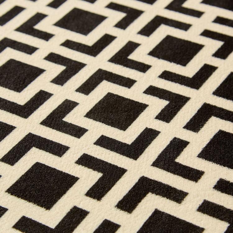 Picture of BLACK RETRO BLOCKS (PRINTED RUG)